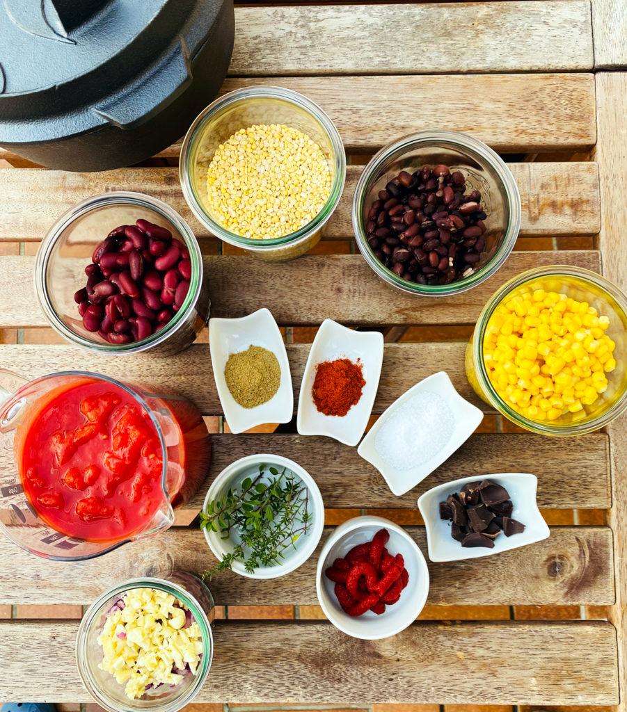 Zutaten für Chili